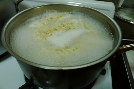 Par-cook your ramen to avoid soggy noodles