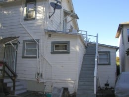 The back stairway and roof where I spent many hours daydreaming or writing or just enjoying the view