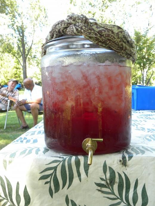 Crystal's raspberry iced tea