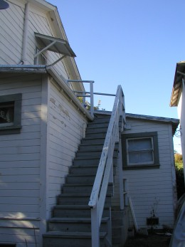Another view of the stairway in back