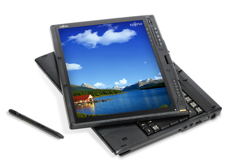 Typical Tablet PC with stylus from Fujitsu