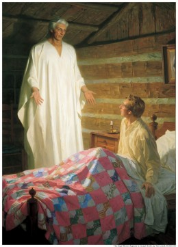 THE ANGEL MORONI VISITS JOSEPH SMITH JR