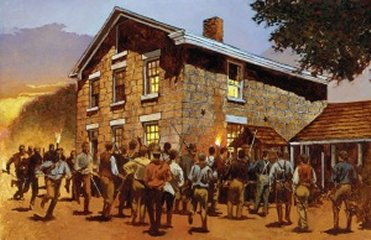 A MOB GATHERS TO MURDER JOSEPH SMITH JR AND HIS BROTHER HYRUM