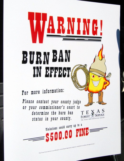 Most counties in the state now have burn bans.