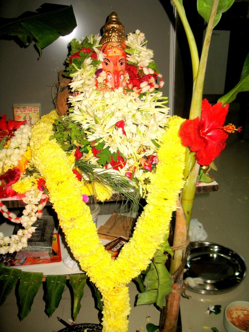 Sri.Ganesh will be worshiped thus for the number of days he will sit to bless all the people who come irrespective of caste,creed and religion.
