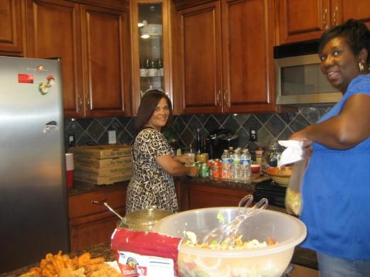 Lauren in her kitchen