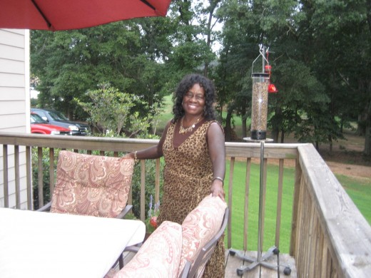 Me on the Deck of the Preston Home