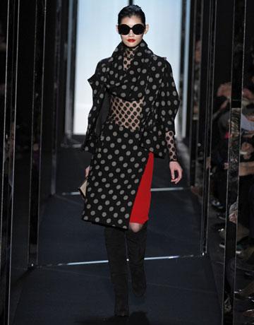 Diane Von Furstenbergs head-to-toe polka dot look