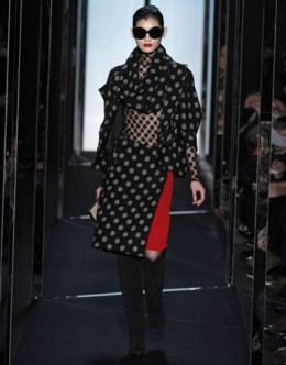 Diane Von Furstenbergs head-to-toe polka dot look