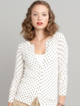 Polka Dot Cardigan by Banana Republic