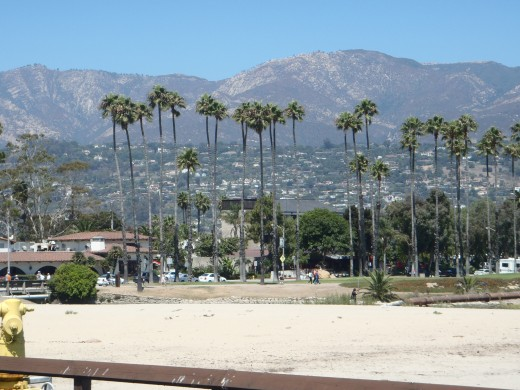 View of Santa Barbara from Stearn's Wharf.