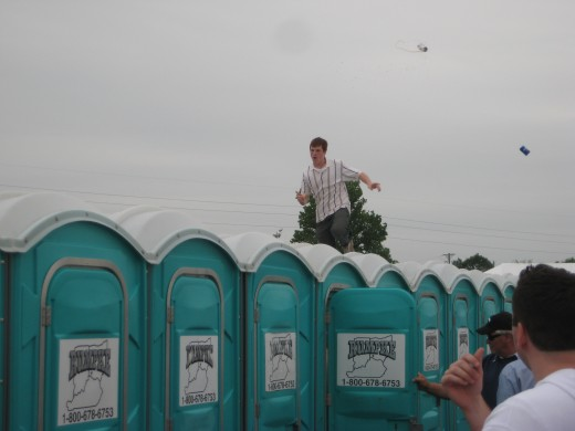 This photo was taken by me at The Kentucky Derby in 2008.