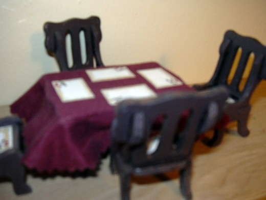 table and chairs from kit