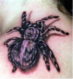 Realistic Cool Spider Tattoos