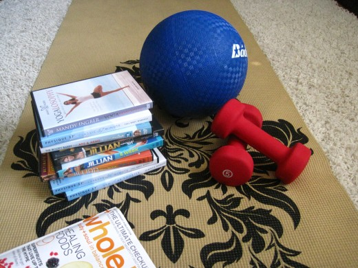 My exercise tools that I use on a daily basis.