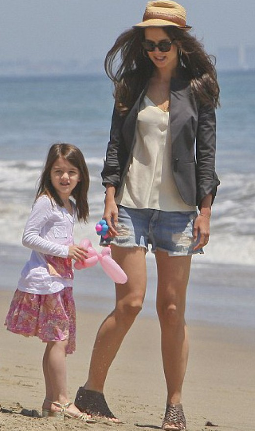 Suri Cruise and Mom Katie Holmes