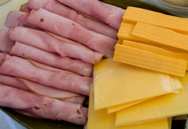 Deli Meat and Cheddar Cheese