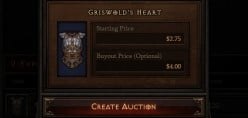 Example of what individual item pages will look like within the Diablo 3 Auction House