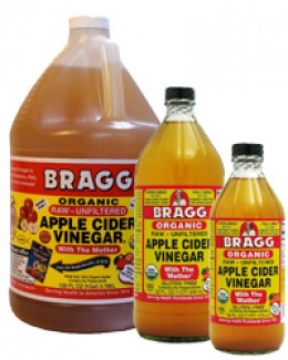 Apple Cider Vinegar, such as Braggs, has a multitude of health benefits. It is not only beneficial in promoting optimal health, but is also useful in treating certain skin conditons in pets.
