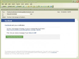 The evil spam. It did not come from Face Book.