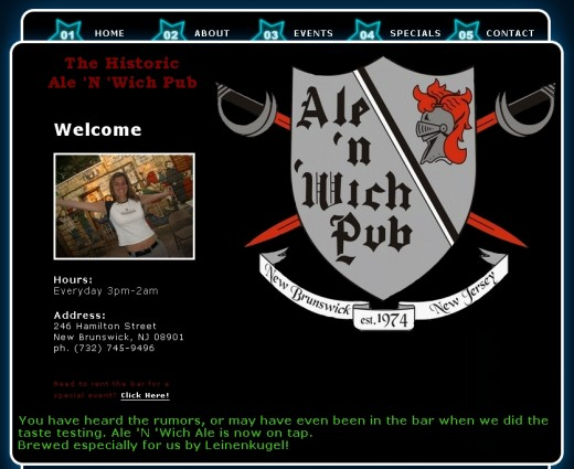 alenwich.com is the Ale 'n 'Wich pub in New Jersey.  Undoubtedly they had no part in this scheme. Their domain was hijacked.