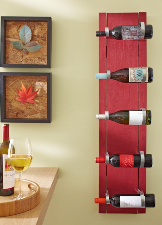 This is how your completed wine rack should look.