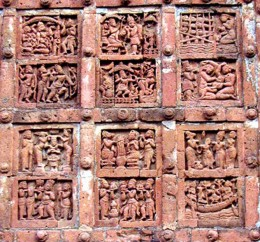 A Panel on Jor-Bangla temple, Bishnupur. Stories of Ramayana.