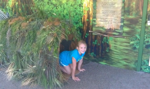 Children can crawl through special displays to engage their imagination at the Newport Oregon aquarium