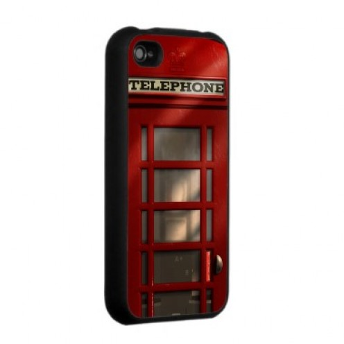 Vintage British red telephone booth iPhone case