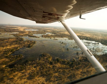 Flying over the Okavango