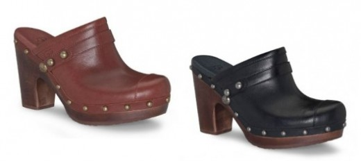 Studded Heeled Clog from Ugg in Black or Rust