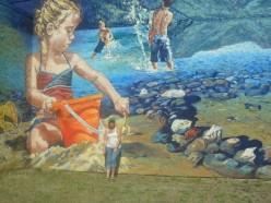 Mural in Christina Lake.