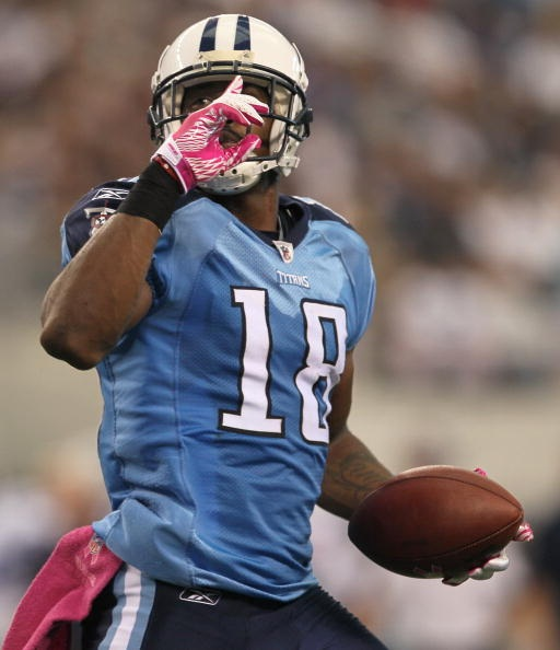 Kenny Britt could see a significant boost in his stats due to having a pass first quarterback throwing to him