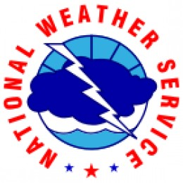 The official logo of the National Weather Service.