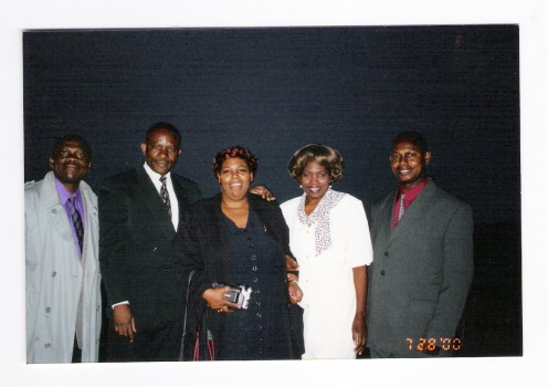 Pastor Muka, Missionary Baker and Sister Mercy and Bishop Mbulu, Zimbabwe 2000