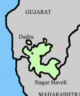 DADRA IS IN GUJARAT STATE and NAGAR HAVELI in MAHARASHTRA ALSO.