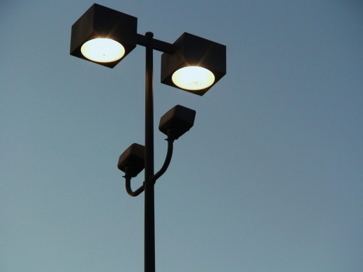 Shielded lighting helps reduce light pollution.