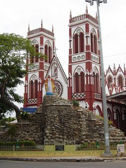 This 100 years old historical Church is 50 mts. long 48 mts. wide and 18 mts. high with latin rite cross shape in ariel view is in Gothic style. 24 main columns hold the structure. The biblical verse from 2 Chronicles 7:16 is written above the entran