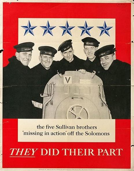 The Fighting Sullivan Brothers made history in the United States Navy for being the most-dedicated brothers in one family to give their all for the war effort.