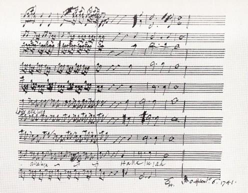 "George Handel's original handwritten musical sheet for the ""Messiah."""