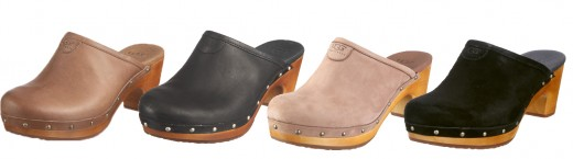 "The ""Abbie"" Clog from Ugg - In suede and leather"