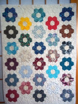 This is the quilt referred to in the English Paper Piecing section of the book.