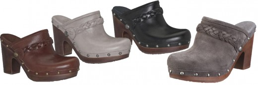 Ugg - The Kaylee Clog in leather and suede