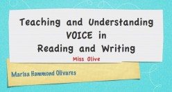 Teaching Voice in Reading and Writing