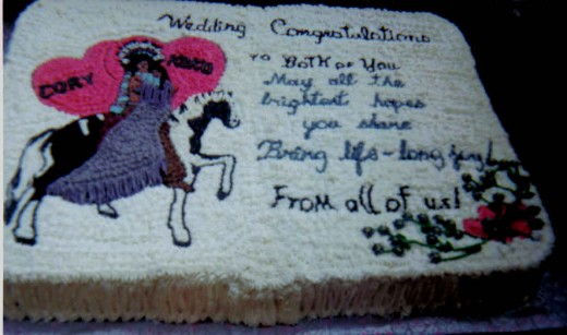 Hard to do. This was for a wedding. A big cake.