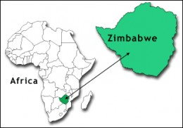 Zimbabwe lies on the Southern side of Africa,bordered by Mozambique,South Africa,Zambia and Namibia
