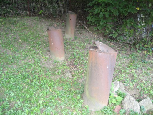 Mysterious pipes embedded in the backyard
