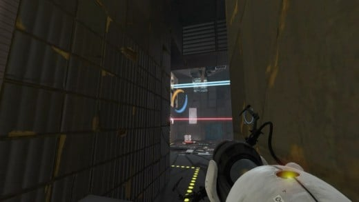 Dropping the cube by removing the bridge to secure the exit and wrap up Chapter 3, The Return in Portal 2.