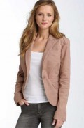 A neutral corduroy jacket can give warmth to long skirts, jeans and slacks!