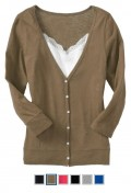 Sweater Cardigans are a great wardrobe basic that comes in many colors!